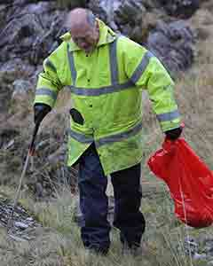 Kevin Brennan, Volunteer with Kenmare Tidy Towns, at Moll's Gap,